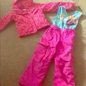 Girls Columbia Ski Jacket and Snowpants